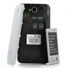 "N9880 Android 4.0 WCDMA Bar Phone w/ 6.0"" Capacitive Screen, Wi-Fi, GPS and Dual-SIM - White"