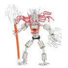 Creative Handcraft Iron Wire Robot Display Model Toy - Silver + Red