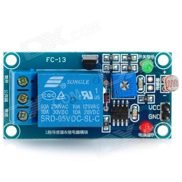 1-Way Photo Resistor Sensor with Relay Module for Arduino (Works with Official Arduino Boards)