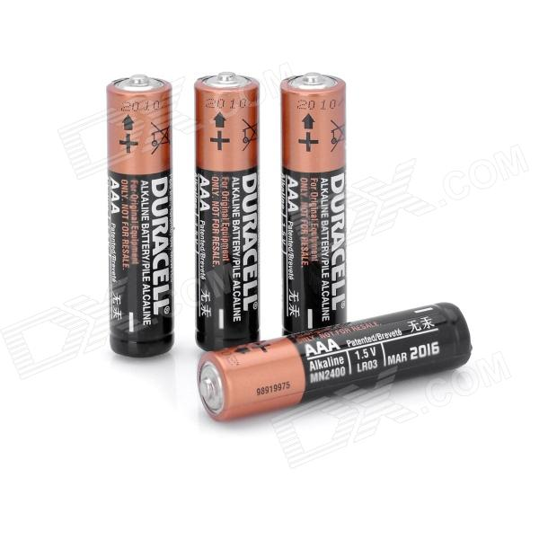 Replacement 1.5V 600mAh Alkaline AAA Battery - Black + Golden (4 PCS)