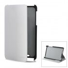 Protective PU Leather Case w/ Holder for Google Nexus 7 - White