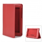 Stylish Protective PU Leather Flip-Open Case for Google Nexus 7 - Red