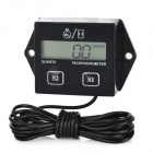 "2.1"" LCD Tach / Hour Meter for Motorcycle / ATV / Motor Boat / Lawn Mower - Black (1 x CR2430)"