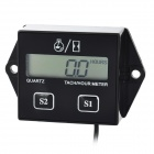 "2.1"" LCD Tach/Hour Meter for Motorcycle / ATV / Motor Boat - Black"