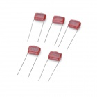 224 250V Metallized Polyester Film Capacitor - Deep Red (5 PCS)