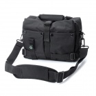 Protective Nylon Fabric One-Shoulder Bag w/ Compass for DSLR Camera - Black