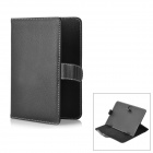 "Universal Protective PU Leather Case for 7"" Tablets - Black"