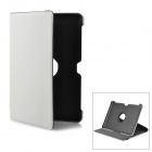 Protective PU Leather Case for Samsung Galaxy Tab P5100 - White