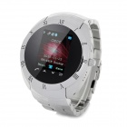 "W6 GSM Steel Watch Phone w/ 1.3"" Resistive Screen, Quad-Band, FM and Bluetooth - Silver"