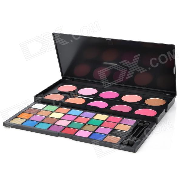 Serseul Portable 42-Color Cosmetic Makeup Eye Shadow / Blusher Palette
