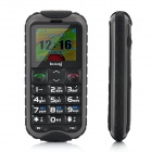 "N638 Ultra-Rugged IP67 Old Senior GSM Cell Phone w/ 1.8"" LCD, Dual-Band and FM - Black"
