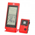 "Caliber RF-104 5.2"" LCD Wireless Weather Forecast Thermometer - Red"