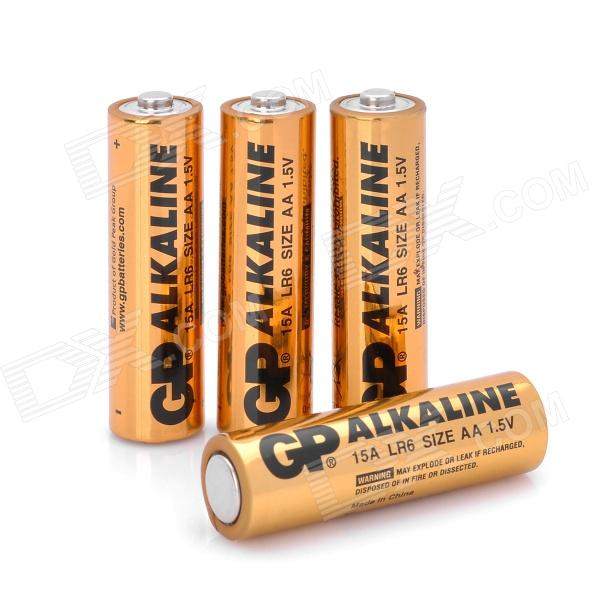 gp replacement 1 5v alkaline aa battery golden 4 pcs free shipping dealextreme. Black Bedroom Furniture Sets. Home Design Ideas