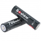 3.2V 700mAh Rechargeable AA 14500 LiFePO4 Battery - Black (4PCS)