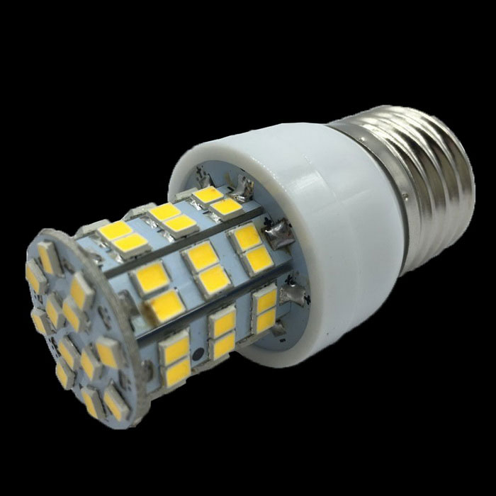 E27 3.8W 300LM Warm White Light 60*LED 3500K Corn Bulb (AC 220-240V)E27<br>ModelH6004WWMaterialPVCMaterialPVCForm  ColorWhiteQuantity1EmitterPower4WRated VoltageAC 220-240Connector TypeE27,E2Emitter TypeLEDTotal Emitters60Power3.8Color BINWarm WhitePacking List<br>