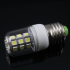 E27 5.6W 3500K 450lm 27-LED Warm White Light Bulb - White + More (AC 220V)