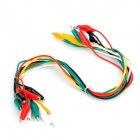Dual-Head Crocodile Alligator Clip Test Lead Kabel (10 PCS)