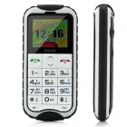 "N638 Ultra-Rugged IP57 GSM Old Senioren Handy w / 1,8 ""LCD, Dual-Band-und UKW - Black + White"