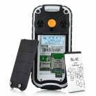 "N638 Ultra-Rugged IP57 GSM Old Senior Cell Phone w/ 1.8"" LCD, Dual-Band and FM - Black + White"