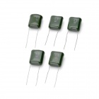 334 0.33UF 250V Polyester Film Capacitor - Green (5 PCS)