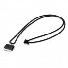 30 Pin Connector Carrying Strap for iPhone / iPad / iPod - Black (45cm)