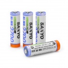 SANYO HR-3U Rechargeable 1.2V 2700mAh Ni-MH AA Batteries - White + Blue (4 PCS)