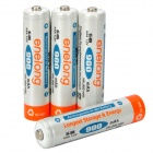 Enelong Rechargeable 900mAh NiMH AAA Batteries - Orange + White (4 PCS)