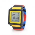 "Fashion Sports 1.5"" LED Silicone Band Digital Wrist Watch - Multi-Color (1 x LR626 / LR66)"