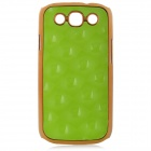 Stylish Protective Plastic Back Case for Samsung Galaxy S3 i9300 - Green + Golden