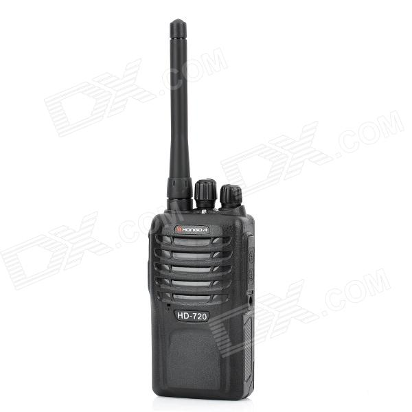 HONGDA HD-720 5W 400~470MHz Walkie Talkie - Black