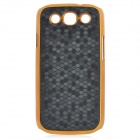 Football Pattern Protective Plastic Back Case for Samsung Galaxy S3 i9300 - Black + Golden