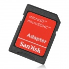 SanDisk Micro SD TF Card w / SD adapteri - musta (2 gt)
