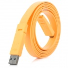Mini USB to USB 2.0 Male to Male Flat Cable - Orange