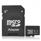 Reliable Class 6 Micro SD TF Card w/ SD Adapter - Black (32GB)