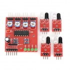 4-Channel Infrared Detector Tracked Photoelectric Sensor Obstacle Avoidance Module - Red