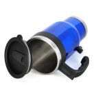 Car Cigarette Lighter Powered Electric Water Heater Bottle - Blue (450ml / DC 12V)