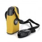 Wilderness Survival Tool 3-in-1 Fire Sparkle Flint + Compass + Whistle - Black + Yellow