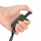 Wilderness Survival Tool 3-in-1 Fire Sparkle Flint + Compass + Whistle - Army Green + Black