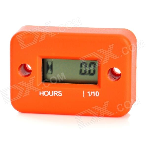 "1.0"" LCD Water Resistant Hour Meter for Motor + More - Orange"