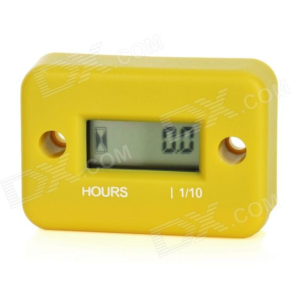 1.0 LCD Water Resistant Hour Meter for Motor + More - Yellow rovan gas baja 30 5cc 4 bolt chrome engine with walbro carb and ngk spark plug for 1 5 scale hpi km losi rc car parts
