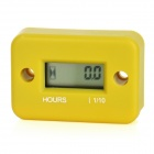 "1.0"" LCD Water Resistant Hour Meter for Motor + More - Yellow"