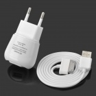 AC Power Adapter Charger + USB Data/Charging Cable for Samsung Galaxy Tab P5100 / P3100 - White (EU)