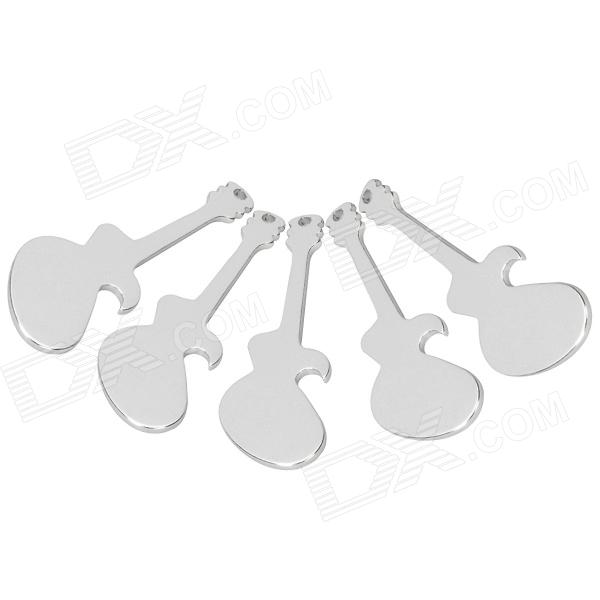 Guitar Style Beer Bottle Opener - Silver (5 PCS)