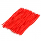 Dual-Head Tinned Breadboard Jumper Cable Wires - Red (100 PCS)