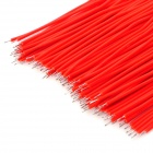 Dual Head-estañado Breadboard Cables Jumper Cable - Red (100 PCS)