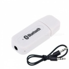 Bluetooth V2.1+ EDR Wireless Audio Receiver w/ 3.5mm Jack Cable - White