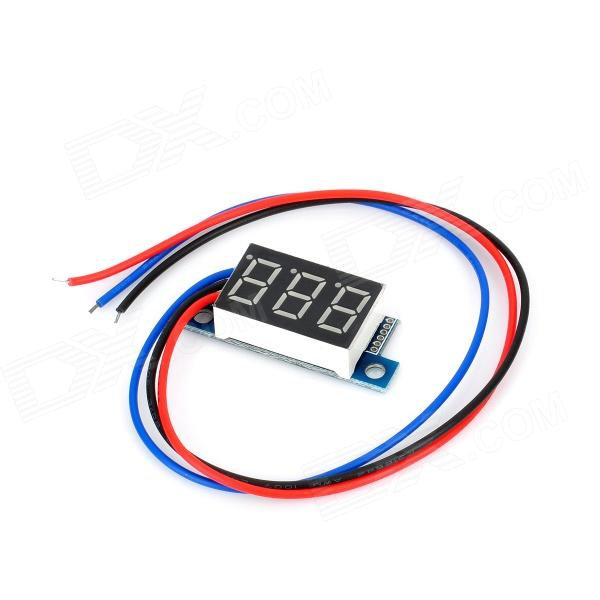 3-Digit Voltmeter for Electric Motorcycle (0V~99.9V)