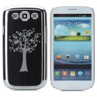 Tree Pattern Protective PC Back Cover Case for Samsung Galaxy S III / i9300 - Black