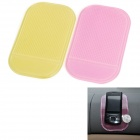 PVC Auto Car Soft Anti-slip Mat - Red + Yellow (2 PCS)