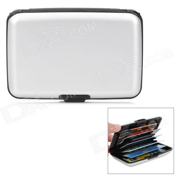 Elegant Business Card Credit Card Holder Case - Silver